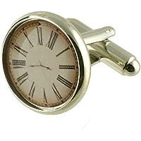 Collegamenti del bracciale orologio Watch gemelli~stampato fronte di clock gemelli (non funzionante) + fatto a mano Pouch