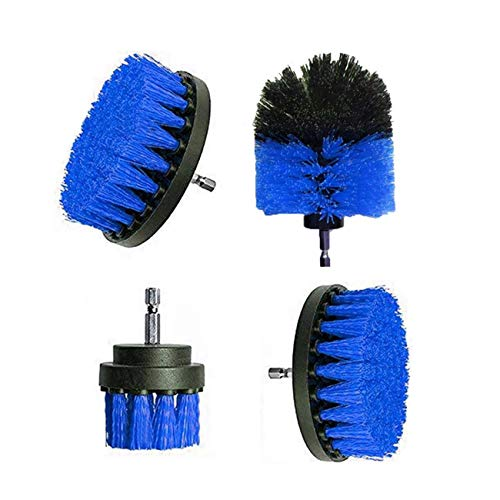 JIUY Neumáticos Taladro eléctrico 4pcs Cepillo de Limpieza Kit de plástico Cepillo...