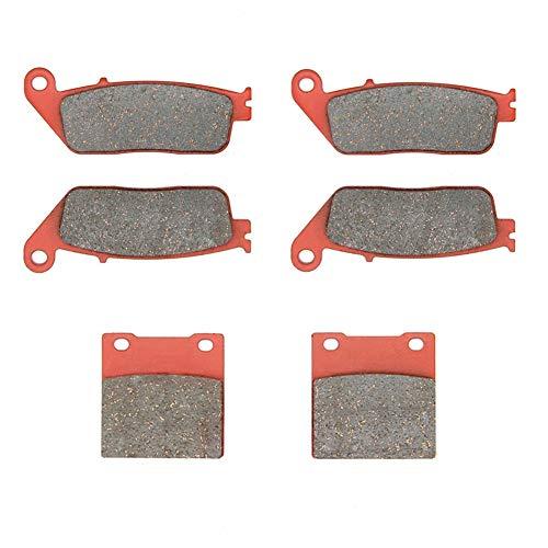 MEXITAL Pastiglie freno Ceramica organico Anteriori + Posteriore per GSX 400 Impulse Type (94-96) / RF 400 R/RF 600 R (93-97) / GSF 650 Bandit (95-99)
