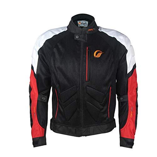 Motorrad Trikot Herren Sommer Mesh Trikot Langarm Atmungsaktiv Schlank Rennanzug Mit EAV Schutzausrüstung (Jacke,M)