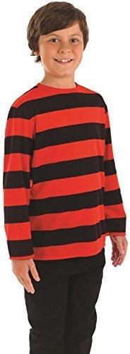 Fancy Me Mädchen Jungen Kinder Unisex rot schwarz Menace Comic-Helden Welttag des buches-Tage-Woche Kostüm Kleid Outfit 4-12yrs Jahre - Schwarz/Rot, 4-6 - Comic Buch Kostüm Mädchen