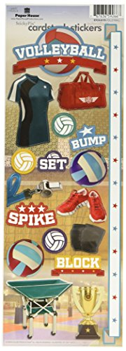 Paper House Productions Sportkarten-Aufkleber Volleyball 2