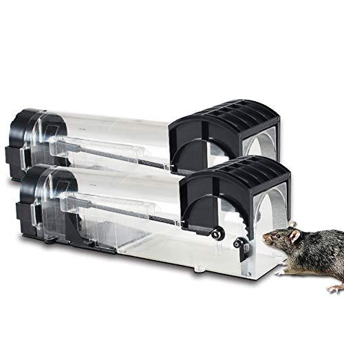 ZZJC Benutzerfreundliche Mausefalle Für Den Außen- / Innenbereich, Keine Notwendigkeit Zu Töten, Geeignet Für Live Catch Und Beste Maussteuerung - 2 Packungen (29 cm * 7,5 cm * 9,5 cm)