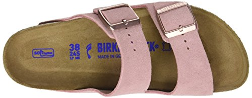 Birkenstock Arizona Leder Softfootbed, Ciabatte Donna Rosa (Rose)