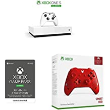 Microsoft Xbox One S 1 TB-All Digital Edition Console + Controller Wireless Sport Red + Abbonamento Game Pass Ultimate 3 Mesi