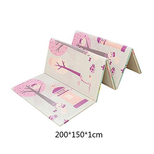 FGASAD Alfombrilla Plegable para Juegos de bebé, XPE Espuma Impermeable para Jugar al Gatear, portátil no tóxico, A2, 59.05in*78.7in