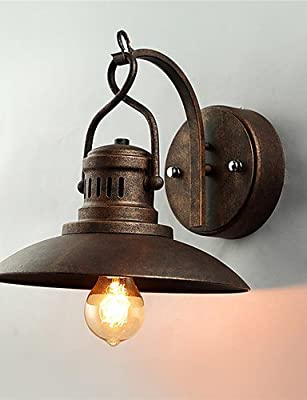 American Country Wrought Iron Wall Sconces vintage 1 Heads Living Dining Cafe Bars Bar Table Fixture