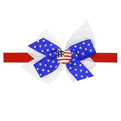 FushoP 4. Juli Patriotische Baby Stirnband Haar Bögen mit Ribbon
