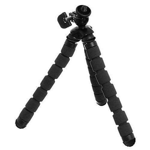 KitVision-Treppiede flessibile Monkee per fotocamera, in schiuma, colore: nero, nero,