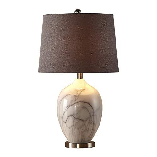 Nachahmung Marmor Keramik Tischlampe, Wohnzimmer Lampe Schlafzimmer Nachttischlampe, Grau, Höhe 63cm Lampen und Beleuchtung