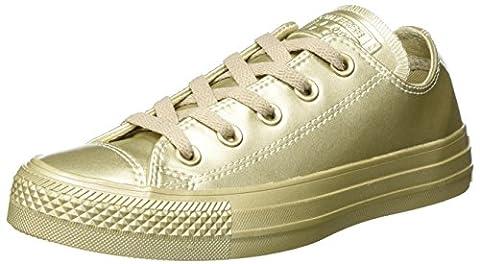 Converse Unisex-Erwachsene Chuck Taylor All Star Sneaker, Gold (Light Gold/Light Gold), 42.5 EU (Chuck Taylor Metallic Lo Top)