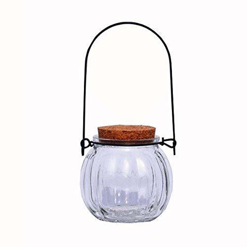Medium Glas Star Black (DIY Crystal Wishing Flaschen Kürbis geformt Origami Star Glas Jar Set 2)