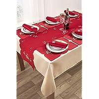 YourHome 14 piece Christmas table linen set (poinsettia)