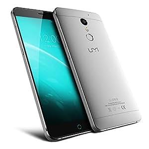 UMI Super Smartphone LTE 4G 4GB RAM 32GB ROM Display 5.5 Full HD CPU Octa Core MTK6755 2.0 Ghz Dual Sim Android 6.0 Marshmallow Grey Grigio SPEDIZIONE DA EUROPA telefono fotocamera 13mpx fingerprint nero premium