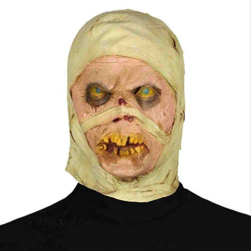 Dance Gear Kostüm - PQNVN Halloween Mummy Mask Squeabedressing Bar Dance Funeral Head Gear