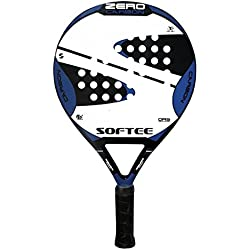 Softee Zero Carbon - Pala pádel, color negro / blanco / azul royal, 38 mm