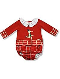 Foque Baby Boys Red Knitted Pinocchio Outfit