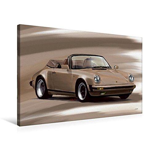 Premium Textile Toile de 45cm x 30cm paysage Porsche 911Cabrio, 75 x 50 cm par Reinhold Autodisegno