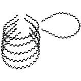 ASTRQLEBlack Spring Wave Metal Hair Hoop For Girls Women Men (Pack Of 6)