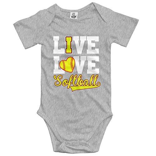 Klotr Unisex Baby Body Kurzarm Softball Baseball Newborn Bodysuits Baumwolle Strampler Outfit Set -