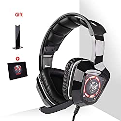 Zhengfangfang Gaming Headset For PS4, Comfort Noise Reduction Crystal Clarity 3.5mm LED Professional Headphone With Mic For Xbox One PC Laptop Tablet Mac Smart Phone