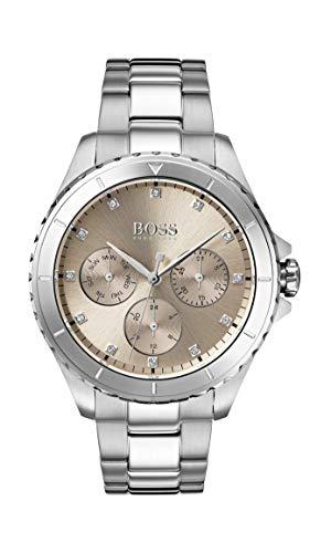 Hugo Boss Watch Reloj Multiesfera para Mujer de Cuarzo con Correa en Acero Inoxidable 1502444