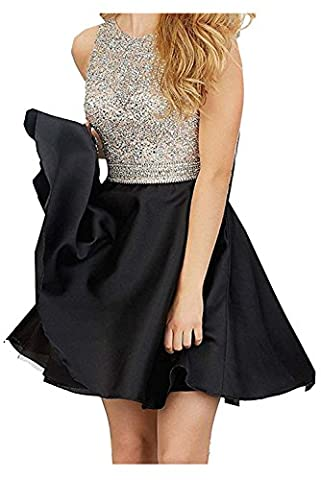 DressyMe 2017 Cheap Homecoming Cocktail Dresses Back Cutout Beaded Sweet
