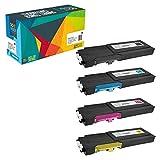 Do it Wiser Kompatible Toner als Ersatz für Dell C2665dnf C2660dn (4er-Pack)