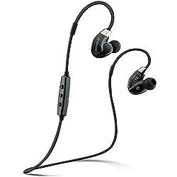 Mpow–Auriculares inalámbricos, sellado de flujo de aire deportes Bluetooth 4.0Back auriculares Bluetooth inalámbrico auriculares con reducción de ruido CVC 6.0y apt-X tecnología para iPhone 7/6S/Plus/6/5S/Se