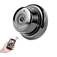 POIIUYY VR Mini cámara inalámbrica WiFi cámara de visión Nocturna por Infrarrojos IP cámara pequeña cámara