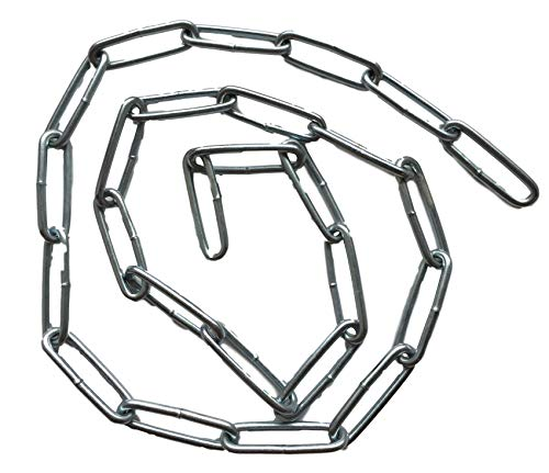 Stahlkette/Eisenkette (verzinkt) 22mm Gliedlänge / 8mm Gliedbreite - 25cm 50cm 75cm 100cm Kettenlänge zur Auswahl (100cm)
