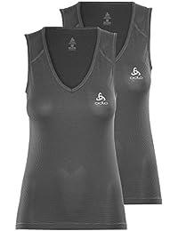 Odlo Damen V-Neck Singlet Cubic 2 Pack Unterhemd