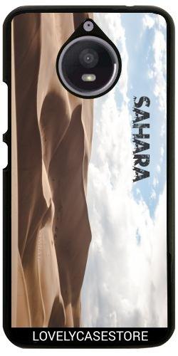 Hülle für Motorola Moto E4 Plus - Wüste Sahara Sky Blue Arid Dürre Düne Oase