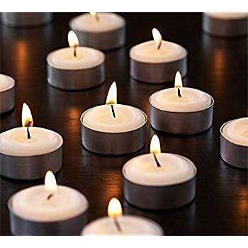 Tealight Pack Of 50 Candle (white, Set Of 50) Made In India