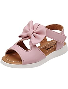 Clode® Sommer Kinder Kind Sandalen Mode Bowknot Mädchen flache Prinzessin Schuhe