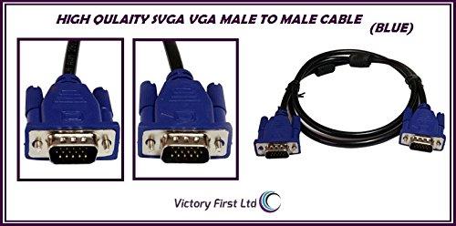 pluscom® 1m cavo per monitor PC VGA/SVGA 15PIN maschio a maschio/piombo/ricambio per PC, laptop, computer, Mac a schermo lcd, TFT Monitor/1metro - 1m Estensione Piombo