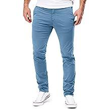 7ac9d5b659 MERISH Pantalones Chino para Hombre Slim Fit Estiramiento Modell 168