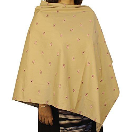 Kadambaby - Premium Nursing Cover / Breastfeeding Poncho / 100% Cotton - Butterfly Print. Stylish Nursing poncho / can be used as Stole/Scarf
