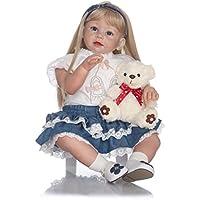Terabithia 28 Pulgadas de 70 cm de Tacto Suave al Estilo de Cambio de Ropa Blondie Reborn Toddler Girl Dolls