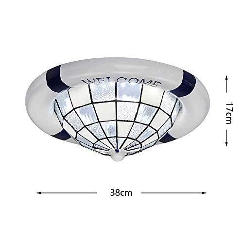 BBG Mode atmosphäre hause kronleuchter mittelmeer schwimmen ring decke lampt led rund glas lampenschirm kinderzimmer innenbeleuchtung wohnzimmer schlafzimmer studie eingang villa leuchte 220/240 watt