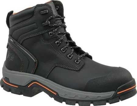 Work Boots, Herren, 10, M, Spitze bis, 6Inh, BLK, PR