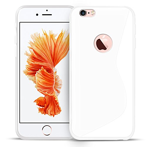 iPhone 5S / SE / 5 Schutz Set, Conie Mobile Set [1x Silikon Hülle + 1x Displayschutzfolie] Backcover Schutzhülle und Panzerglas Schutzfolie Anti Fingerabdruck Weiss