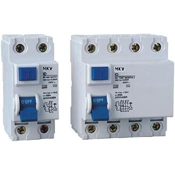 FI - Schalter 2 polig 25A 30mA Fehlerstromschutzschalter: Amazon.de ...