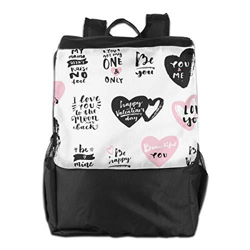 Seien Sie Mein Valentinsgruß, glücklicher Valentinsgruß-Tag-beiläufige beiläufige wandernde Taschen