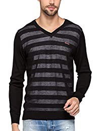 Spykar Mens Black Regular Fit Mid Rise Sweatshirts (X-Large)