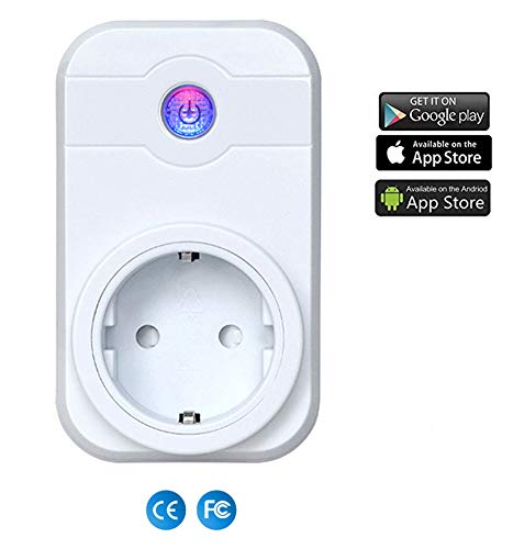 Intelligente Wifi WLAN Steckdose Stecker, OIZEN App Steuerung Smart Funksteckdose Kompatibel mit Alexa …