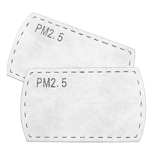sourcingmap® Unisexe Remplacement Charbon Actif Masque Filtre Packs De 10 Blanc