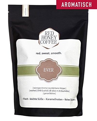 Premium Arabica Kaffee Costa Rica - Red Honey Coffee - Hochland Single Origin - Gourmet Café Crema - Traditionelle Trommelröstung - Frisch Geröstet - Säurearm und Bekömmlich - Ganze Bohne 250g
