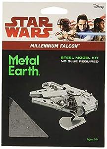 Star Wars-Maqueta de Metal 3D Halcón Milenario, Color Plateado Earth MMS251