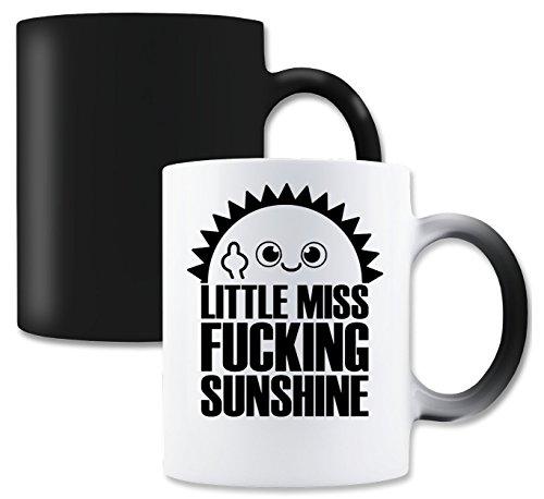 LukeTee Little Miss Fucking Sunshine Magische Tee-Kaffeetasse